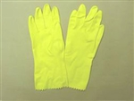Flock Lined Multi-Use Latex Gloves - 1dz/pk, Size Large