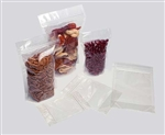 "<!128>4 x 6 + 2.5"", 4mil, 2oz/60g, PET/CPP Stand Up Pouch w/Zip Lock, Clear, 500pcs/bx"
